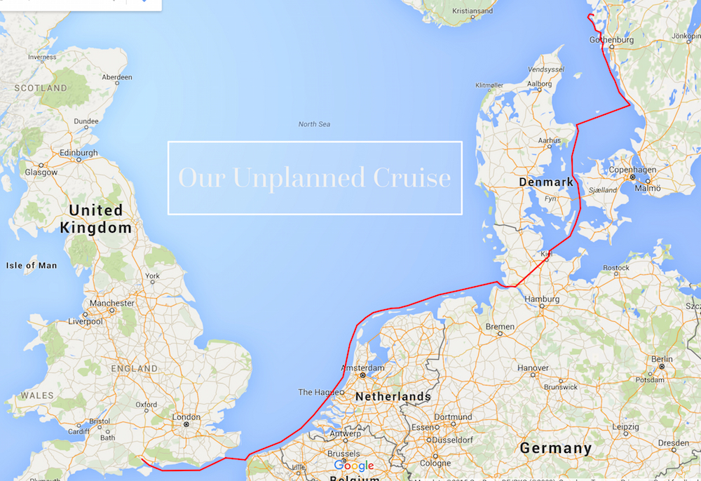 Our cruise route from Southampton, England to Ellös, Sweden | Cruising Attitude Sailing Blog