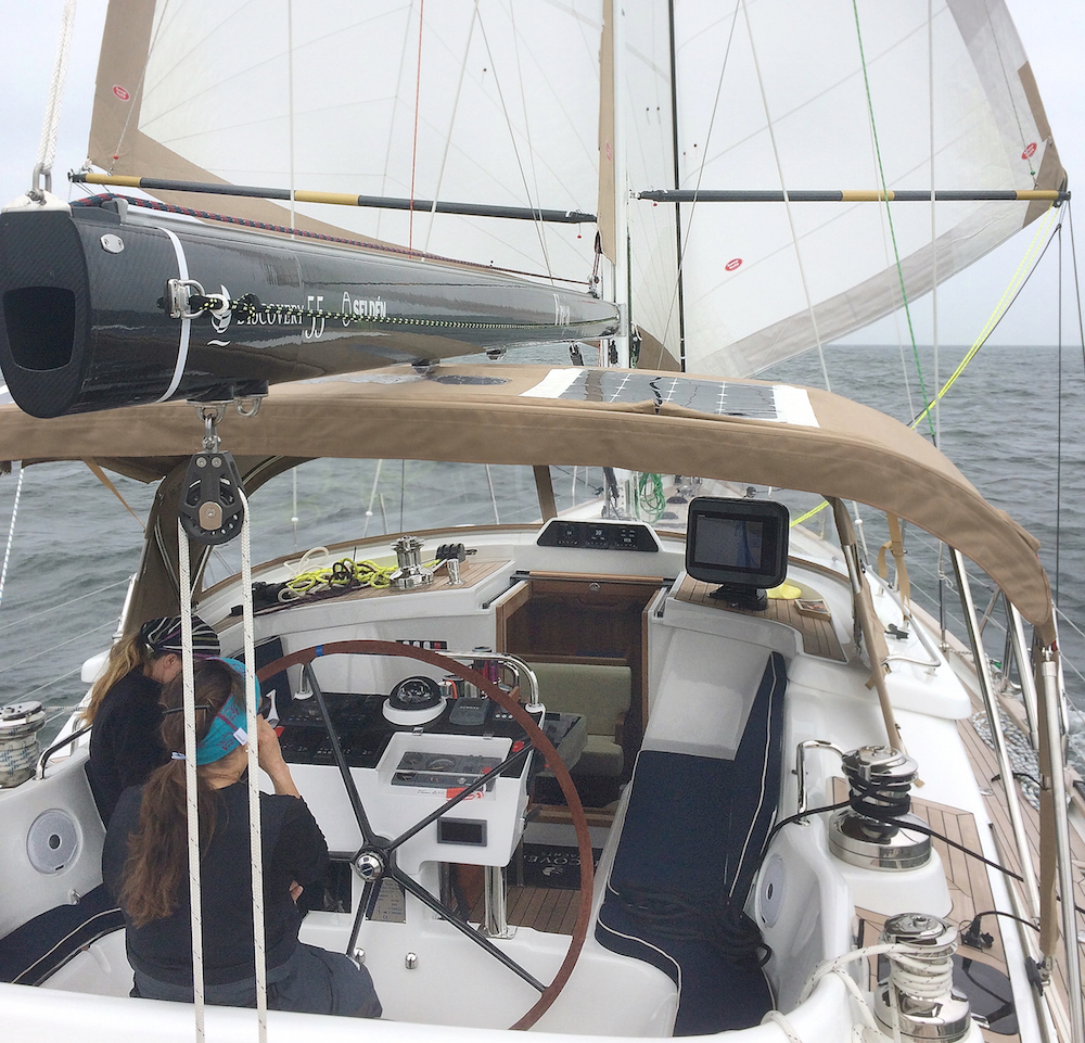 Cruising with double headsails | Cruising Attitude Sailing Blog - Discovery 55