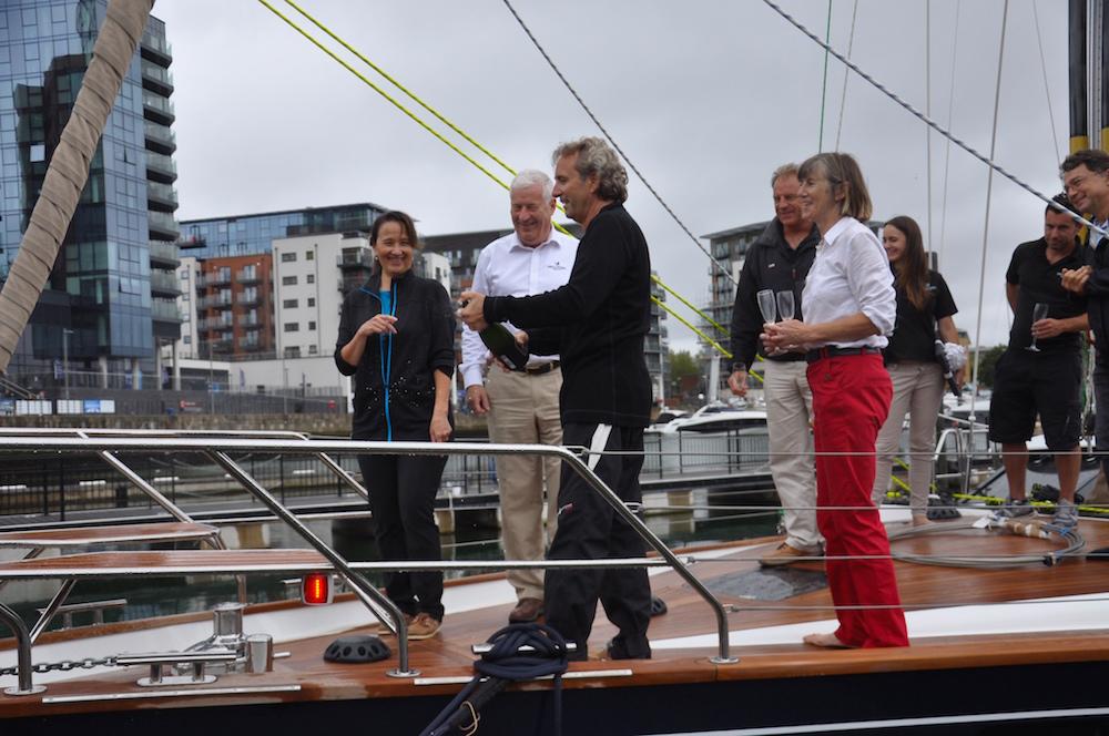 Christening Freja in Southampton | Cruising Attitude Sailing Blog - Discovery 55