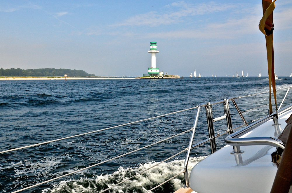Sailing out of Kiel | Cruising Attitude Sailing Blog - Discovery 55
