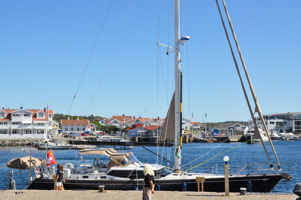 Freja moored in Marstrand guest marina| Cruising Attitude Sailing Blog - Discovery 55