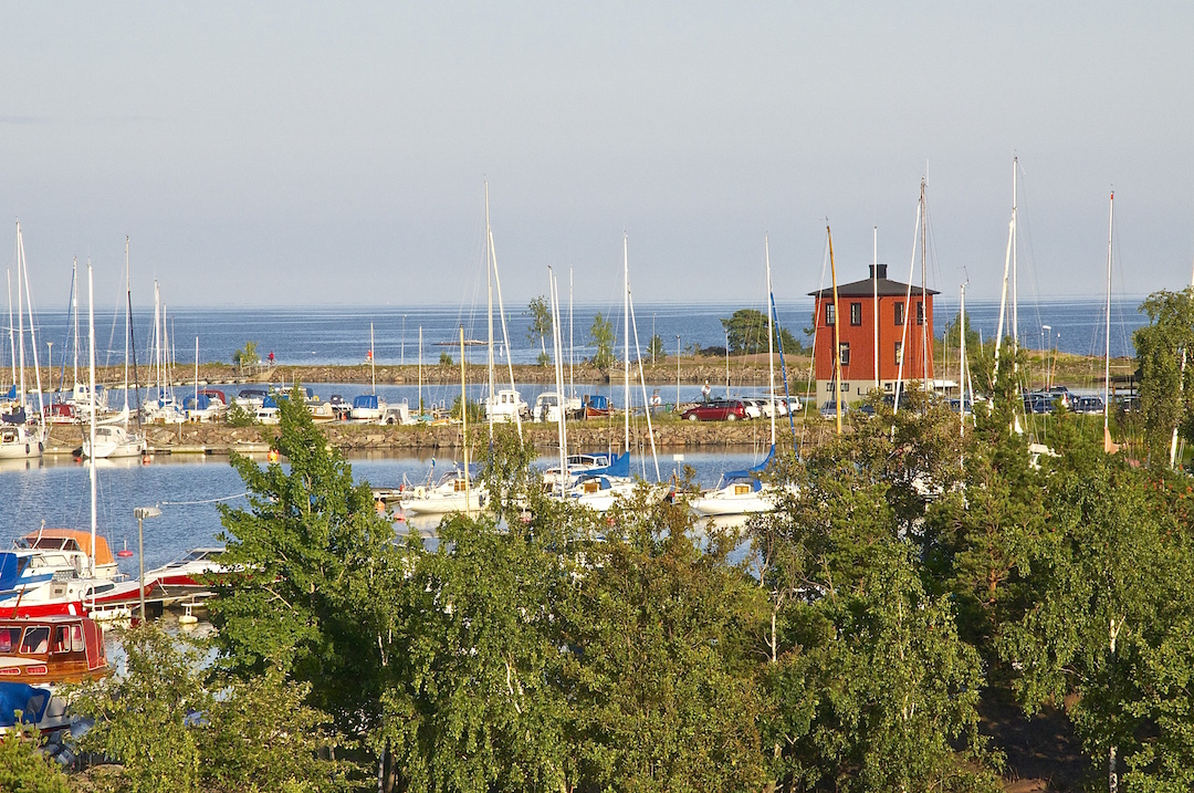 View of the marina outside Oscarshamn, Sweden| Cruising Attitude Sailing Blog - Discovery 55