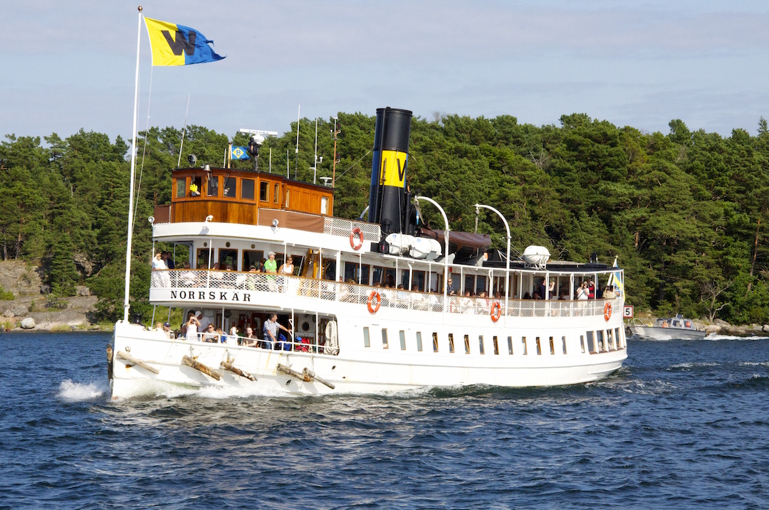 The nautical life in Stockholm. One of the many boats that provide transportation among the thousands of islands in the archipelago | Cruising Attitude Sailing Blog - Discovery 55