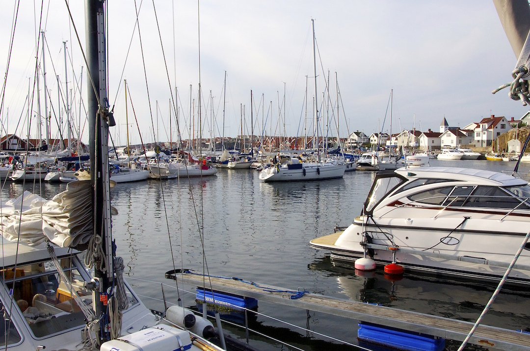 The marina at Skärhamn, Swedish west coast | Cruising Attitude Sailing Blog - Discovery 55