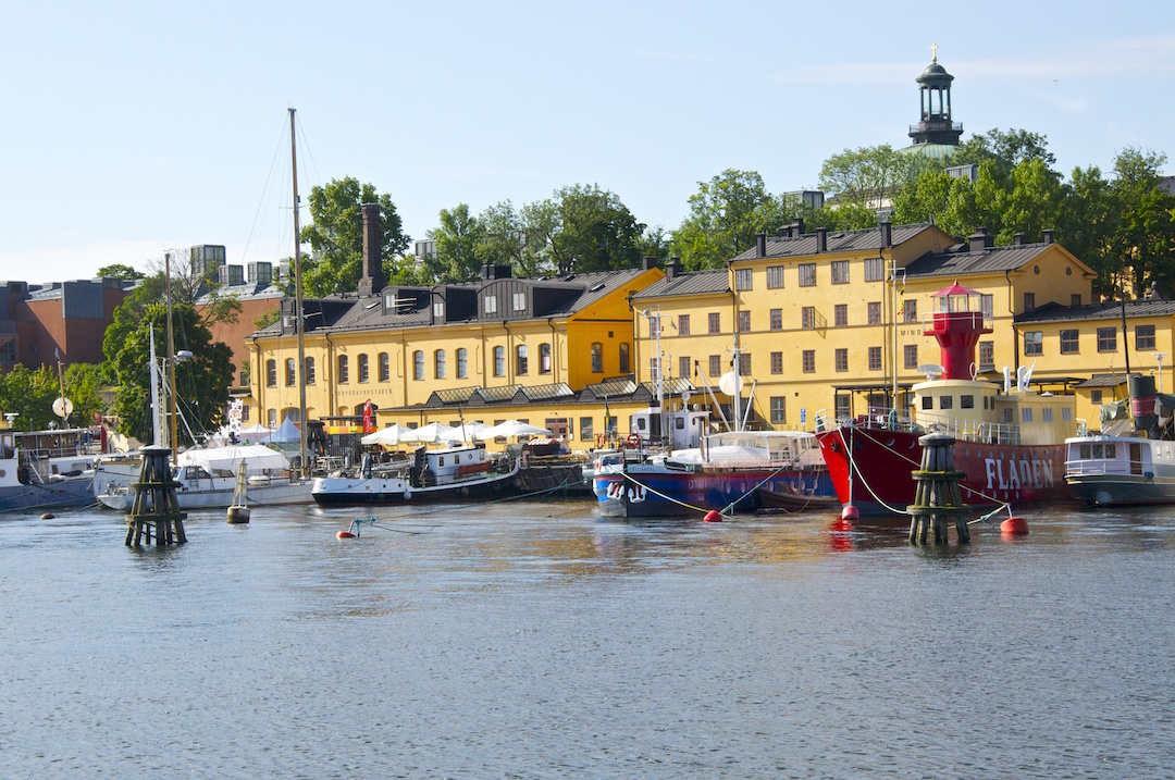 View of the island of Skeppsholmen in Stockholm| Cruising Attitude Sailing Blog - Discovery 55