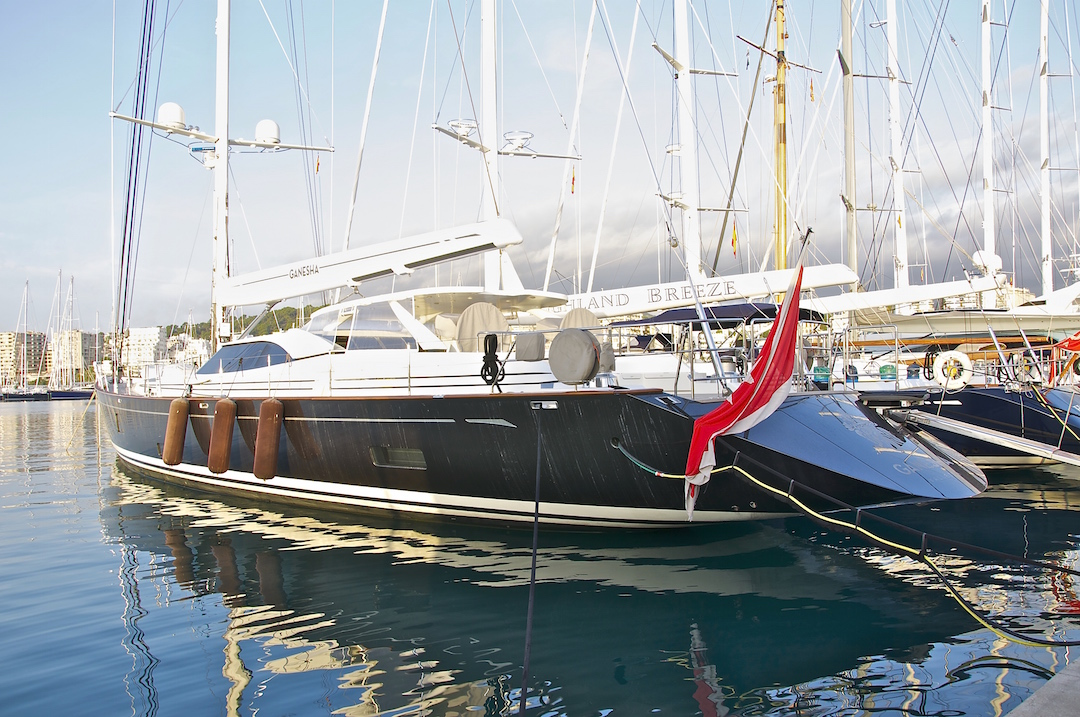 More super yachts at the marina in Palma de Mallorca. Cruising Attitude Sailing Blog. Discovery 55