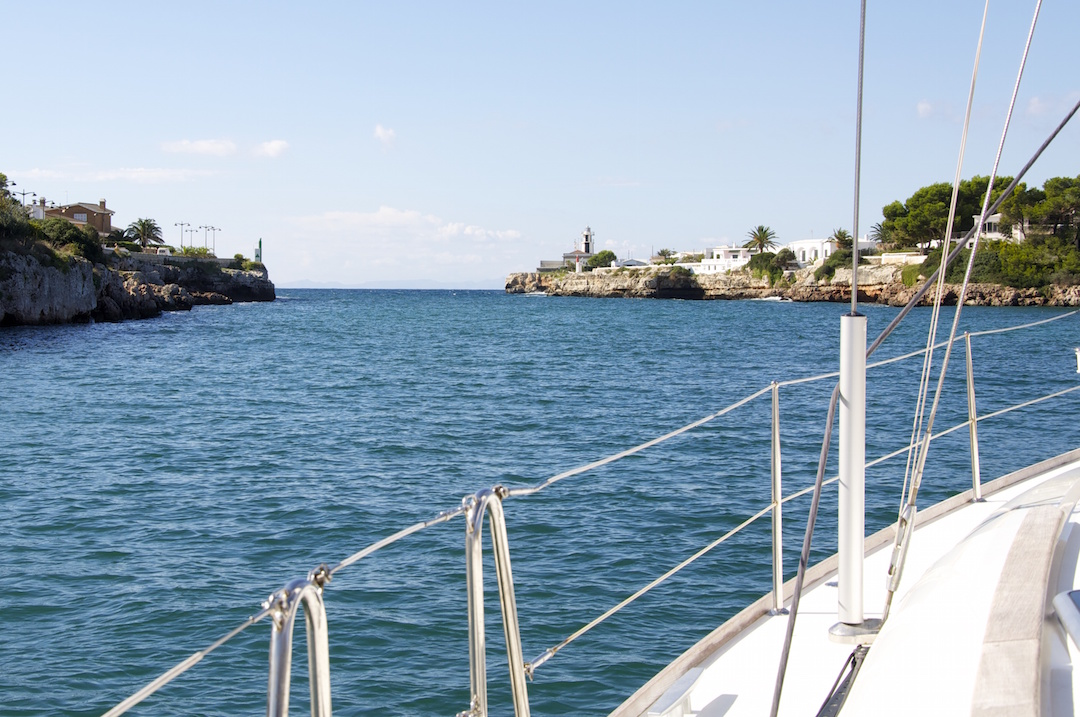 The entrance/exit channel of the port of Ciutadella on Minorca. Cruising Attitude Sailing Blog - Discovery 55