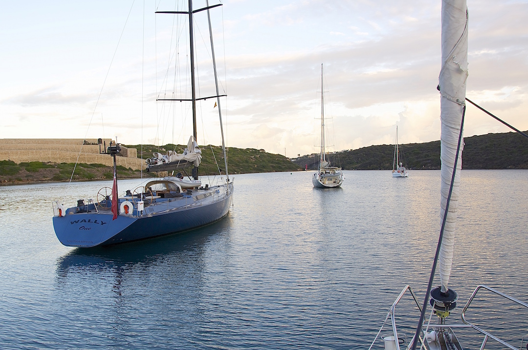 A well-protected anchorage just outside of the port of Mahon on Minorca. Cruising Attitude Sailing Blog - Discovery 55