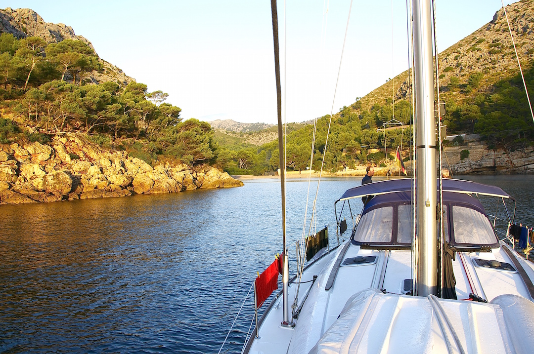 Cala Petite on the east coast of Mallorca. Cruising Attitude Sailing Blog - Discovery 55