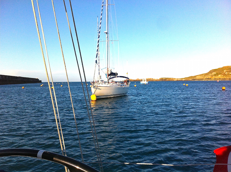 Visitors' moorings in Braye Harbour, Alderney, the Channel Islands | Cruising Attitude Sailing Blog - Discovery 55