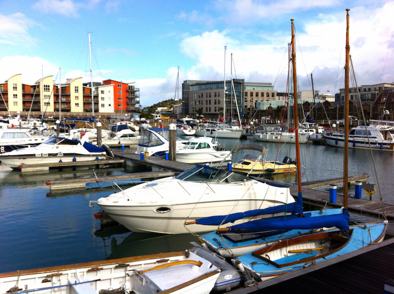 View of the guest marina in St. Helier, Jersey, the Channel Islands | Cruising Attitude Sailing Blog - Discovery 55
