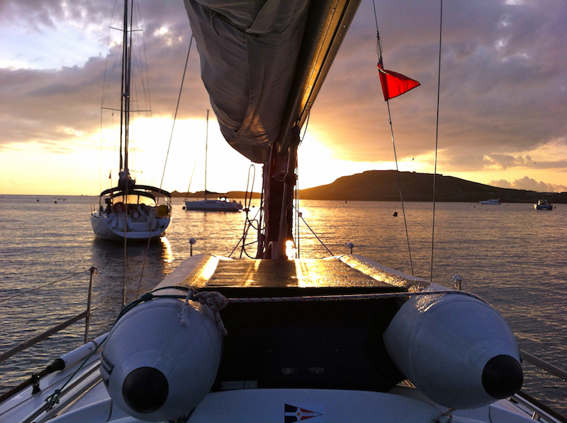 Dawn in Braye Harbour, Alderney, Channel Islands | Cruising Attitude Sailing Blog - Discovery 55