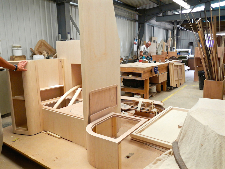 Woodworking area at Discovery | Cruising Attitude Sailing Blog - Discovery 55
