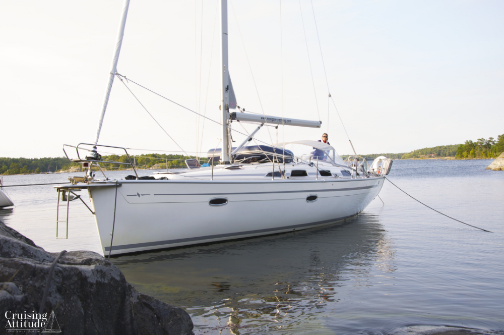 Anchorage at Munkö, | Cruising Attitude Sailing Blog - Discovery 55