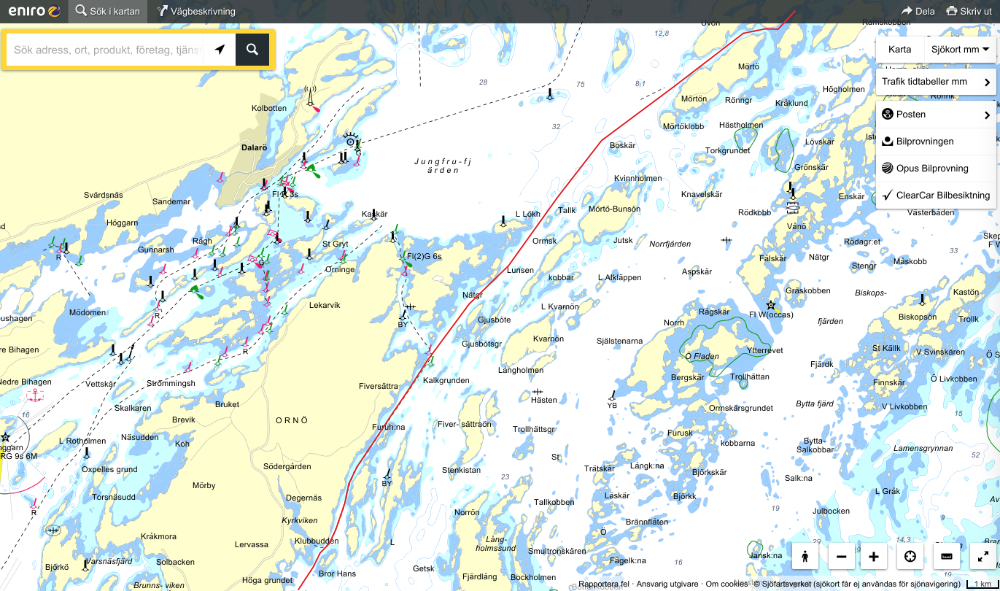 "Utö to Munkö, using the guide ""Genväger i Stockholms Skärgård 