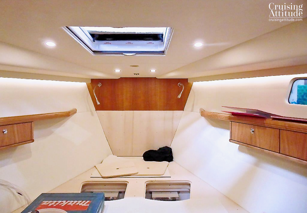 Forward cabin build | Cruising Attitude Sailing Blog - Discovery 55