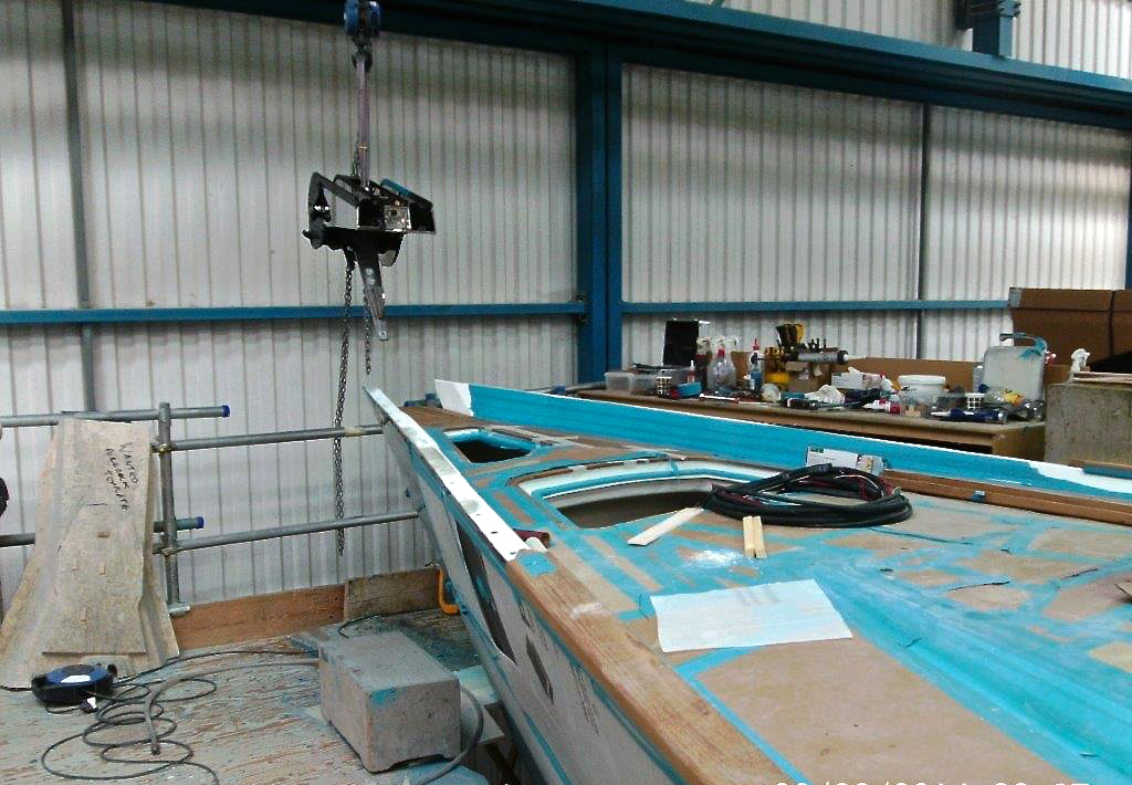 Stemhead installation | Cruising Attitude Sailing Blog - Discovery 55