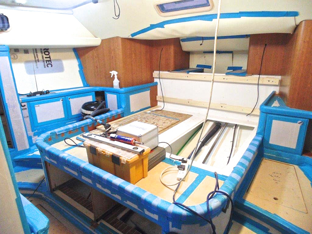Owners' cabin build | Cruising Attitude Sailing Blog - Discovery 55