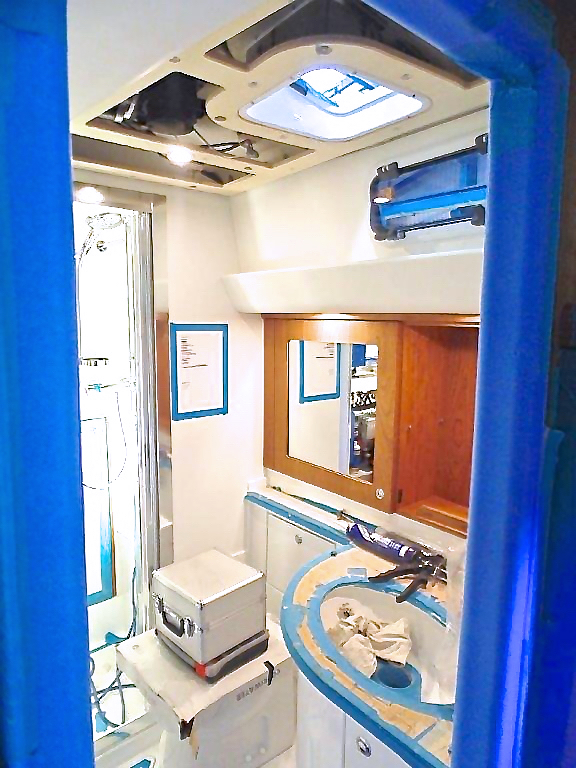 Owners' cabin heads | Cruising Attitude Sailing Blog - Discovery 55