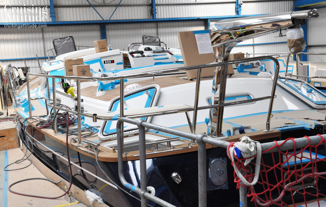 Deck installations are almost completed| Cruising Attitude Sailing Blog - Discovery 55