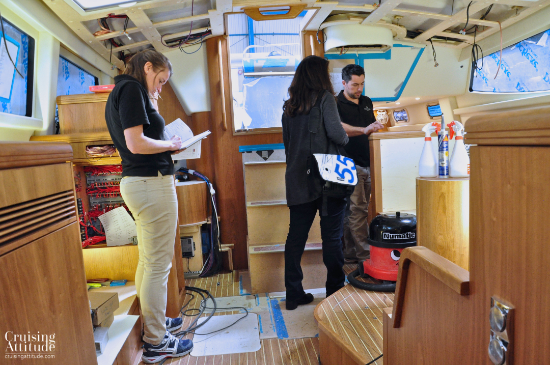 Final build checklists | Cruising Attitude Sailing Blog - Discovery 55