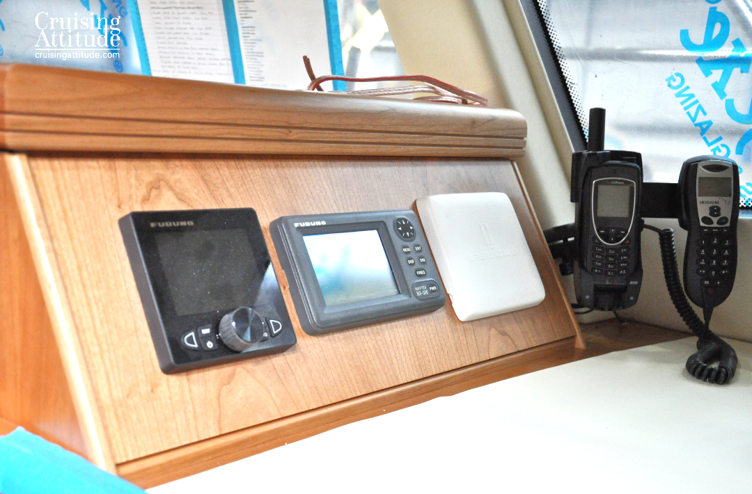 Nav Table Installation | Cruising Attitude Sailing Blog - Discovery 55