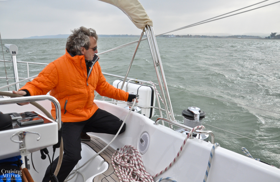 Isle of Wight on the port side | Cruising Attitude Sailing Blog - Discovery 55