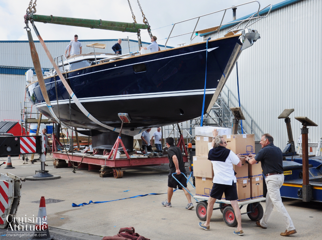 Launch of Freja | Cruising Attitude Sailing Blog - Discovery 55