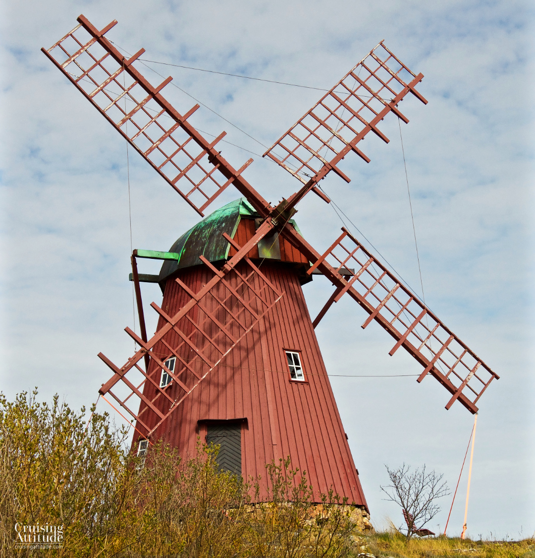 The old windmill in Mollösund | Cruising Attitude Sailing Blog - Discovery 55