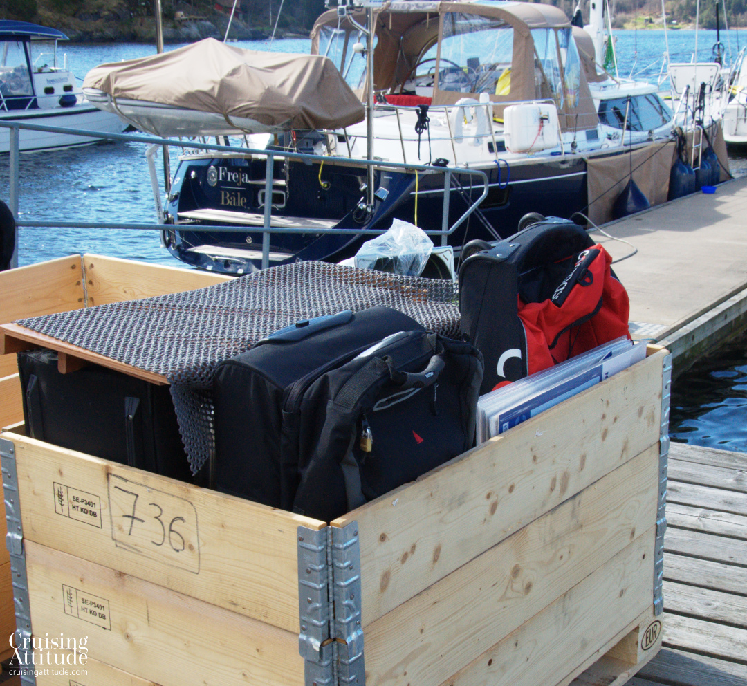 This is what is staying at the boat yard for the summer | Cruising Attitude Sailing Blog - Discovery 55