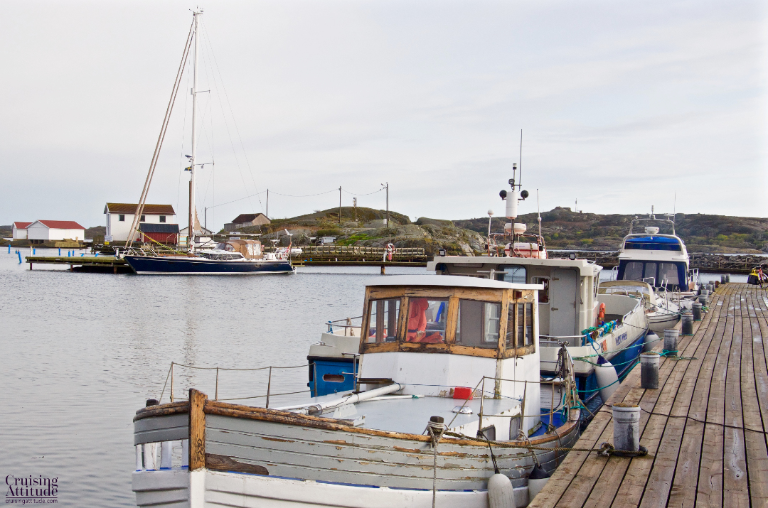 Fishing boats in Rörö. Sweden | Cruising Attitude Sailing Blog - Discovery 55