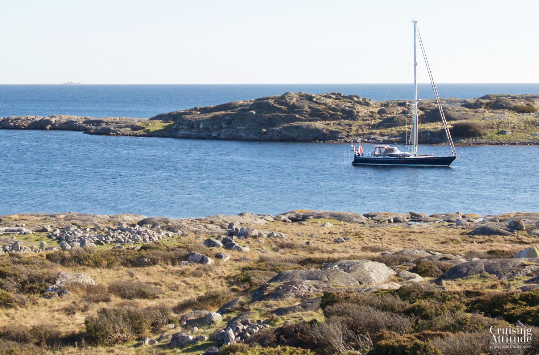 The advantage of off-season sailing: we were all alone in this lovely anchorage | Cruising Attitude Sailing Blog - Discovery 55