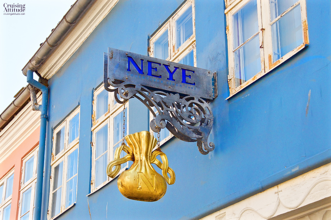 One of the colourful buildings on the main shopping street in Helsingør, Denmark | Cruising Attitude Sailing Blog - Discovery 55