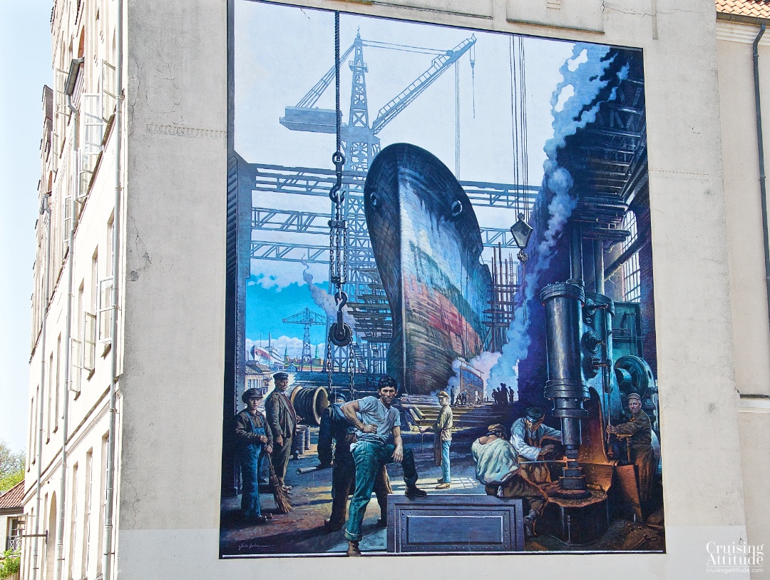Colourful mural in Helsingør, Denmark | Cruising Attitude Sailing Blog - Discovery 55