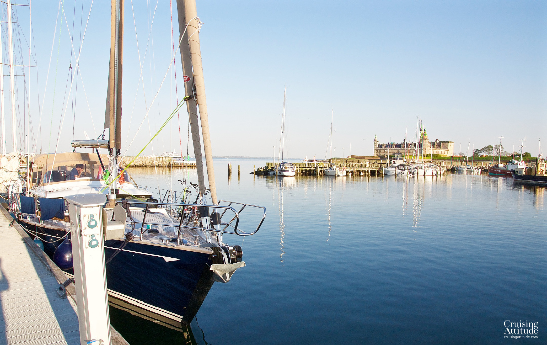 The Nordhavn (North Marina) has the best view of the castle in Helsingør | Cruising Attitude Sailing Blog - Discovery 55