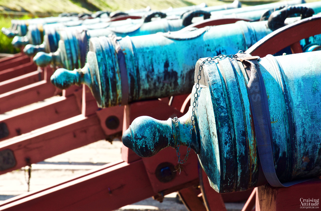 Canons at Kronborg castle in Helsingør, Denmark | Cruising Attitude Sailing Blog - Discovery 55