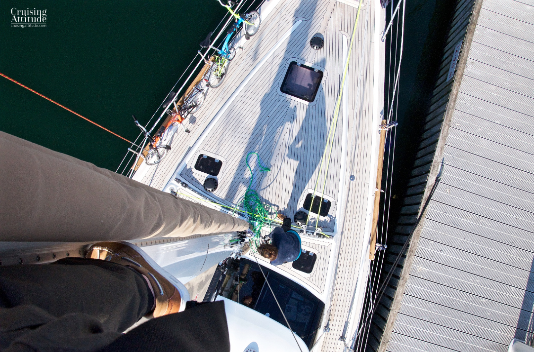 View from 24 meters up the mast | Cruising Attitude Sailing Blog - Discovery 55