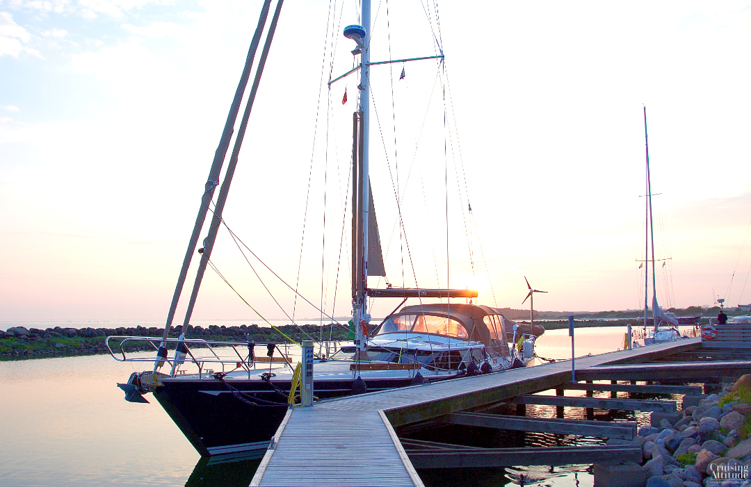 Sunset at Klintholm marina, island of Møn, Denmark | Cruising Attitude Sailing Blog - Discovery 55