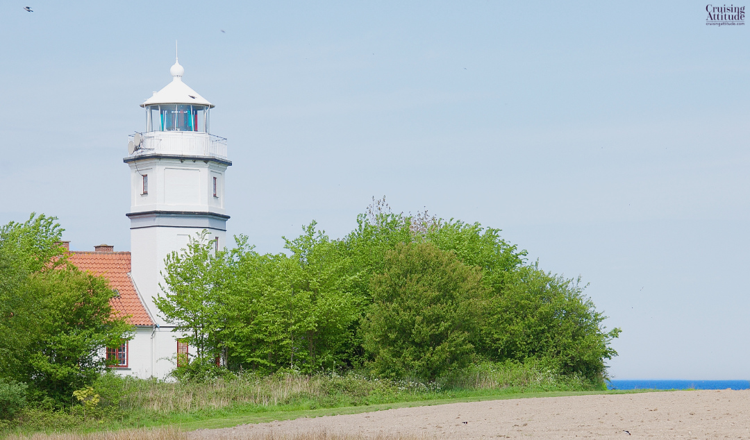 Lighthouse on the island of Vejrø, Denmark | Cruising Attitude Sailing Blog - Discovery 55
