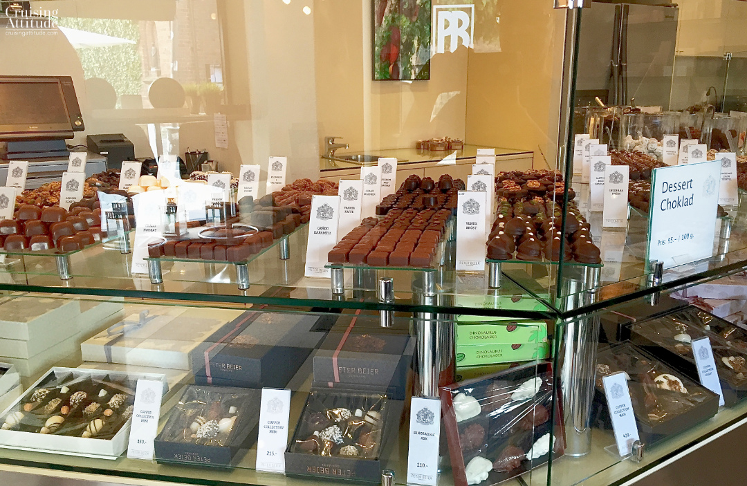 Peter Beier chocolate shop in Helsingborg, Sweden | Cruising Attitude Sailing Blog - Discovery 55