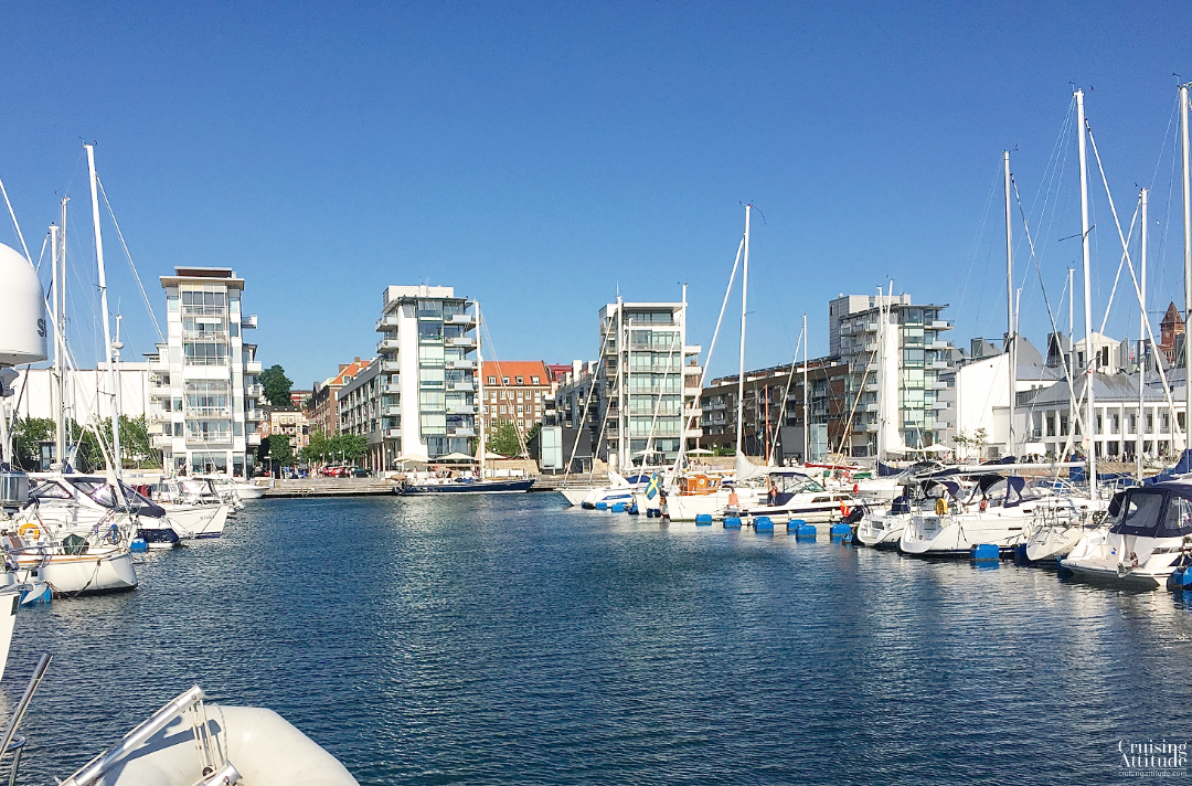 View of the marina in Helsingborg, Sweden | Cruising Attitude Sailing Blog - Discovery 55