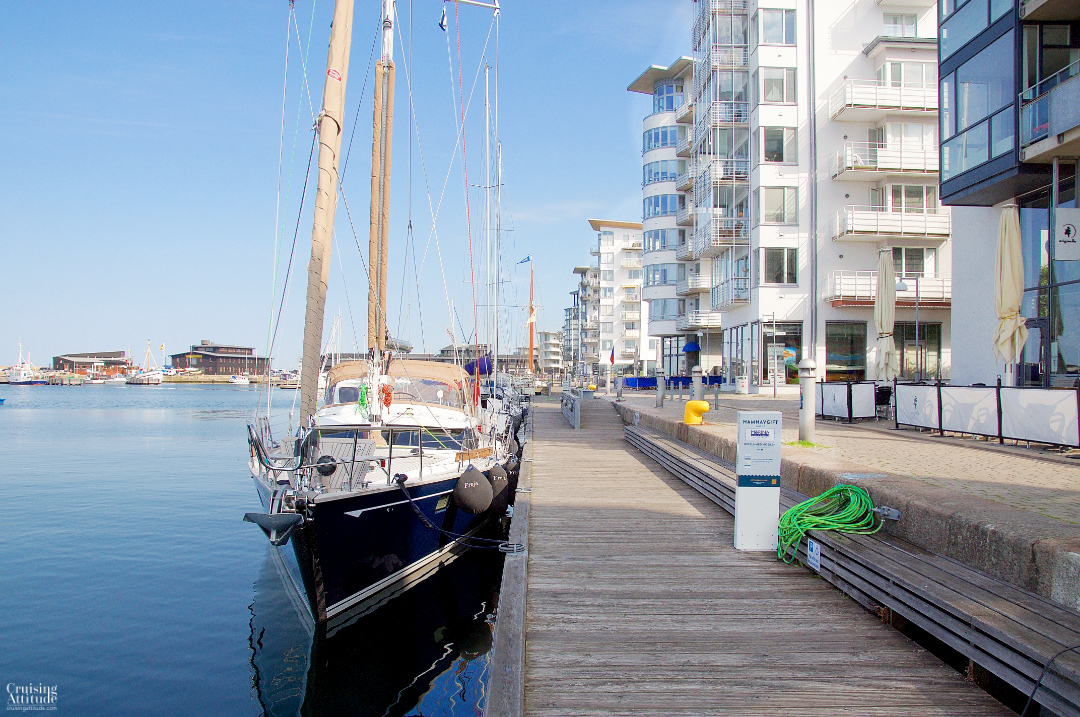 The marina in Helsingborg, Sweden | Cruising Attitude Sailing Blog - Discovery 55