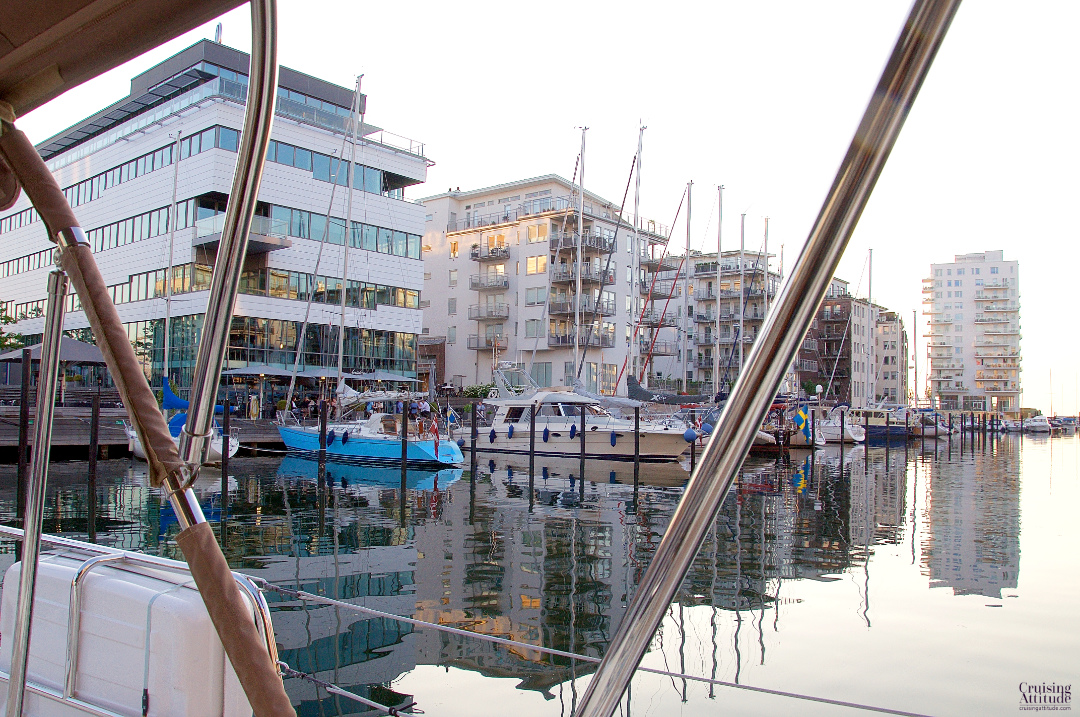 Another view of Dockan Marina in Malmö, Sweden. | Cruising Attitude Sailing Blog - Discovery 55