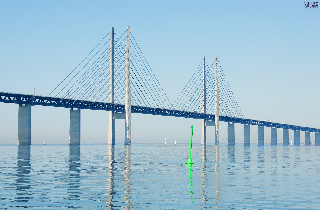 Öresund Bridge on the Malmö, Sweden side | Cruising Attitude Sailing Blog - Discovery 55