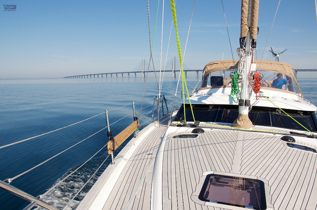Öresund Bridge on the Swedish side | Cruising Attitude Sailing Blog - Discovery 55