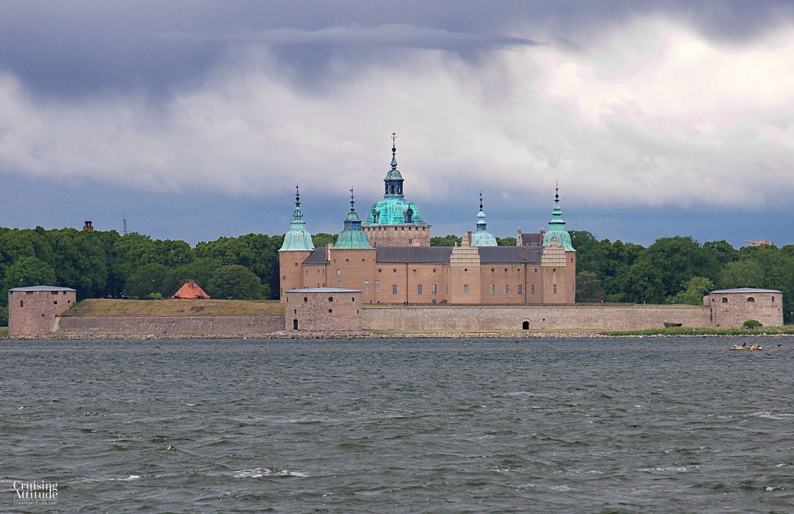 Kalmar Castle sea view | Cruising Attitude Sailing Blog - Discovery 55