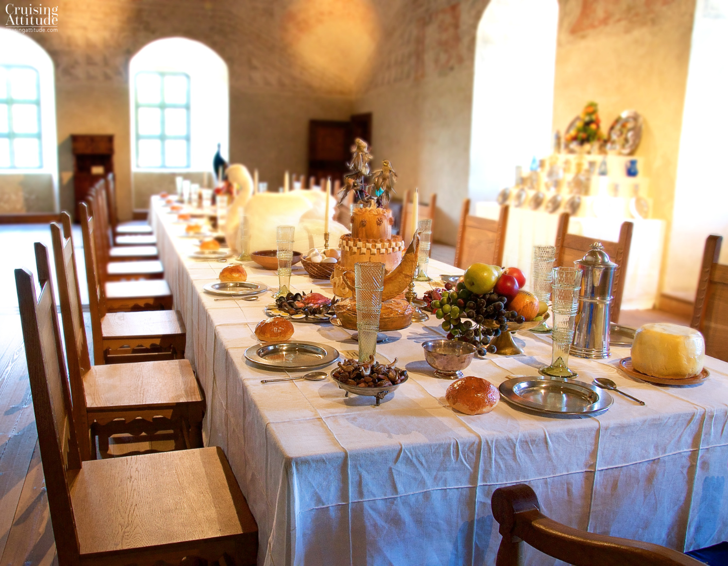 Banquet hall at Kalmar Castle | Cruising Attitude Sailing Blog - Discovery 55