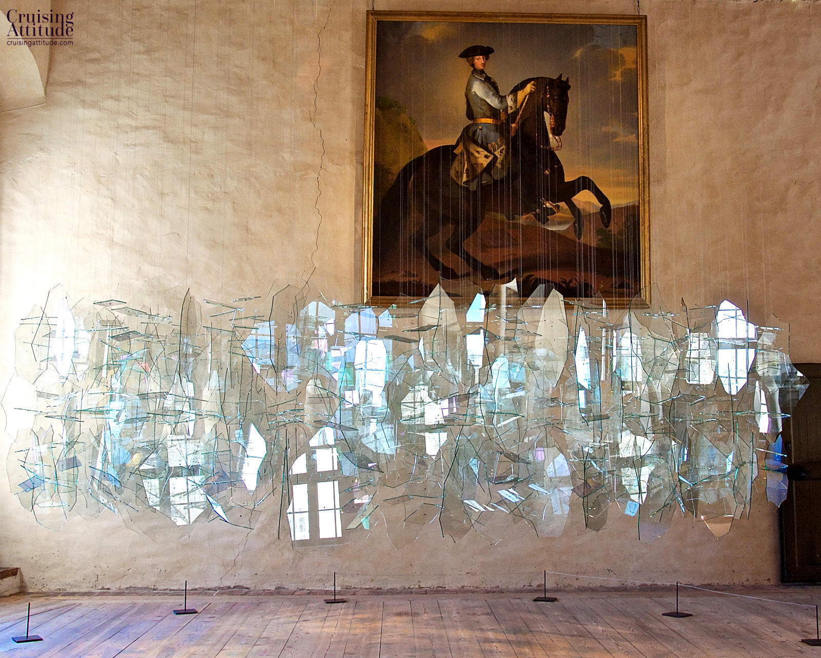 Glass sculpture exhibit at Kalmar Castle | Cruising Attitude Sailing Blog - Discovery 55