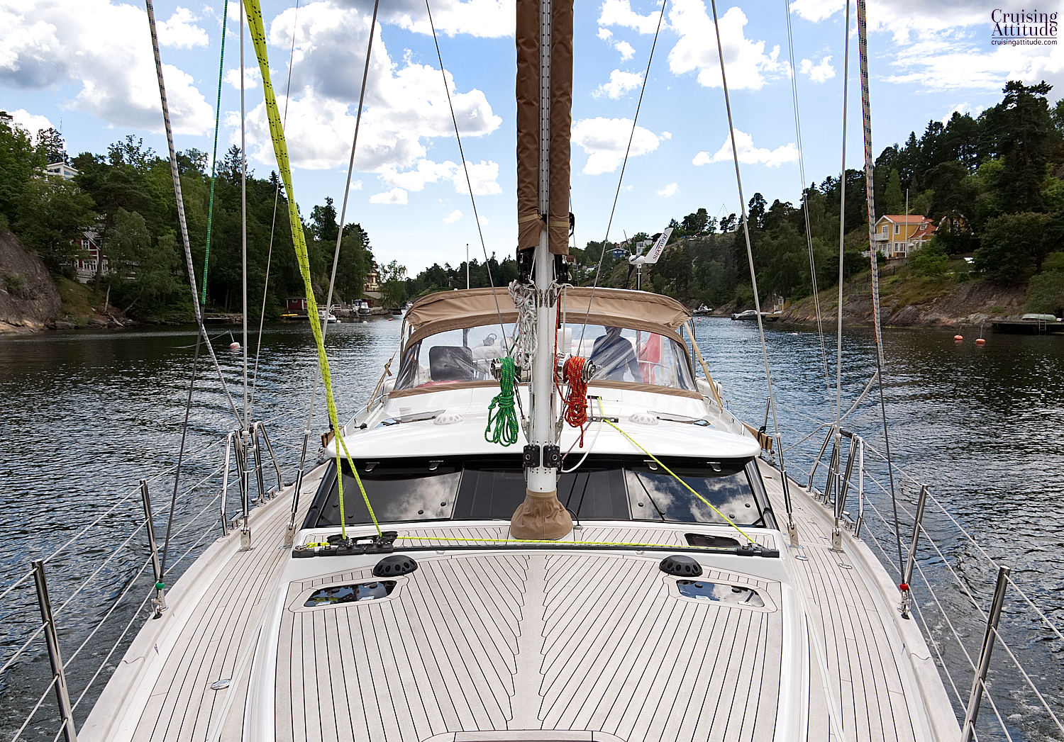 Skurusundet, just outside Stockholm - Cruising Attitude Sailing Blog | Discovery 55