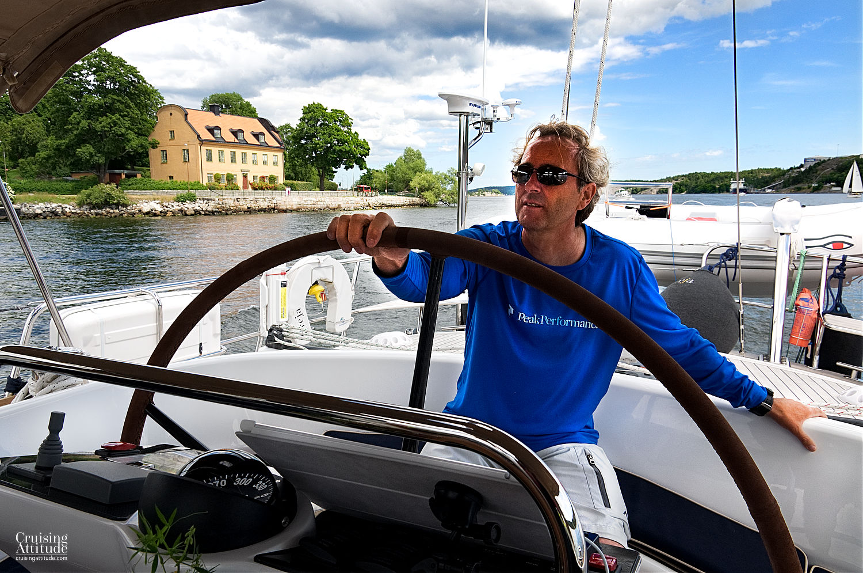 Sailing past Djurgården, Stockholm - Cruising Attitude Sailing Blog | Discovery 55